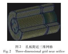 孔板流量计附近三维网格图